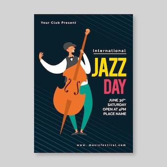 Flyer vorlage für internationalen jazz tag