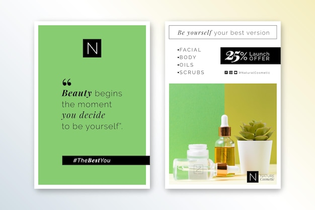 Flyer-vorlage für kosmetikgeschäfte