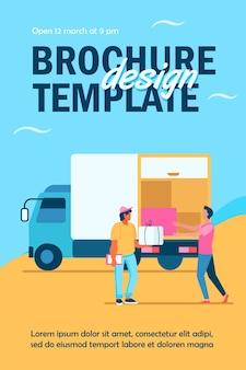 Flyer-vorlage für lieferservice bestellen