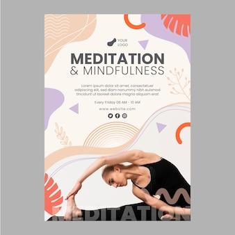 Flyer vorlage für meditation und achtsamkeit