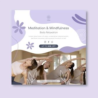 Flyer vorlage für meditation und achtsamkeit Kostenlosen Vektoren