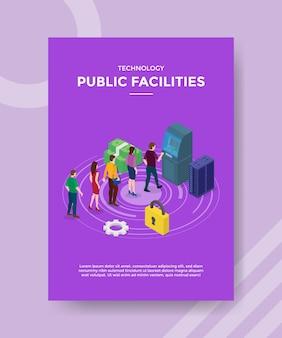 Flyer-vorlage für öffentliche technologieeinrichtungen