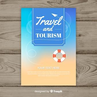 Flyer vorlage für reisen