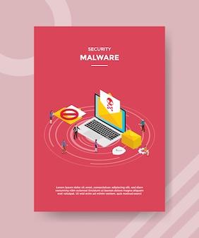 Flyer-vorlage für sicherheits-malware