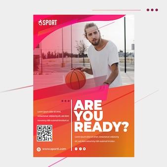 Flyer vorlage für sportliche aktivitäten