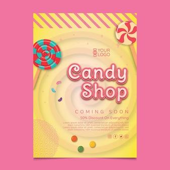 Flyer vorlage für süßwarenladen