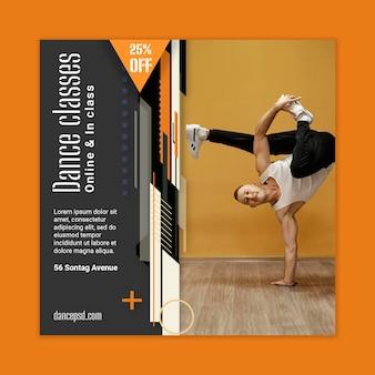 Flyer vorlage für tanzunterricht