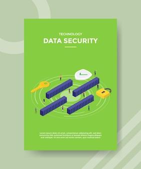 Flyer-vorlage für technologiedatensicherheit