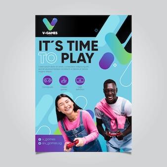 Flyer-vorlage für videospiele