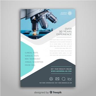 Flyer vorlage für wissenschaftsmesse