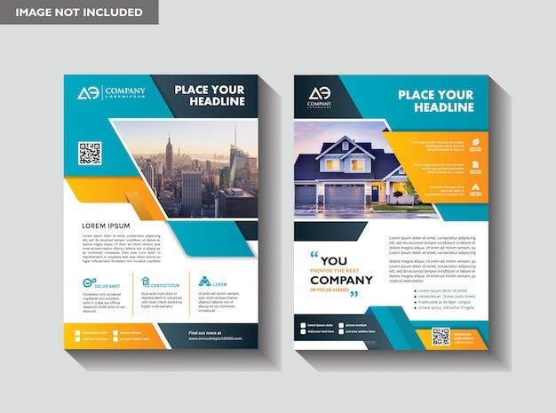 Flyer vorlage layout-design für immobilien