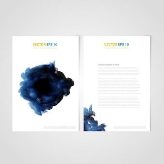 Flyer vorlage rückseite und front design. medizinische ikonen