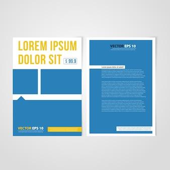 Flyer vorlage rückseite und front design.