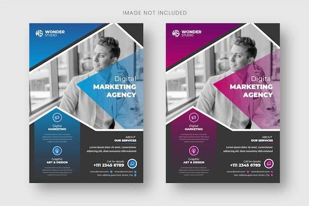Flyer-vorlage und broschüren-cover-design