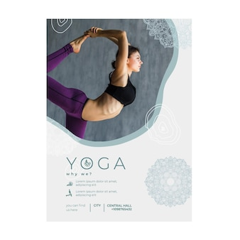 Flyer vorlage zum üben von yoga