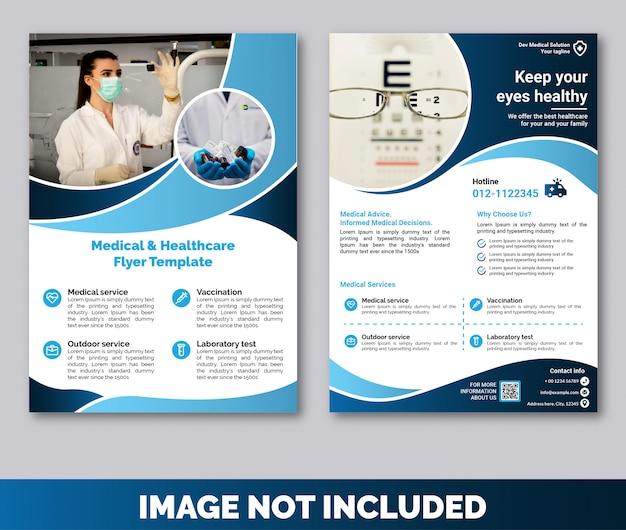Flyer-vorlagenprämie für medizin und gesundheitswesen
