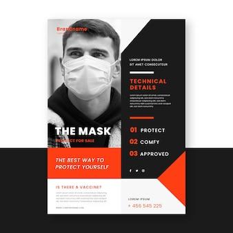Flyer zu coronavirus-medizinprodukten