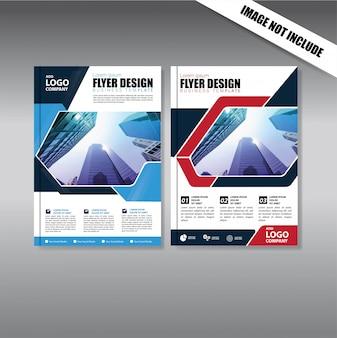 Flyer zum broschürenlayout-jahresbericht mit geometrischer form