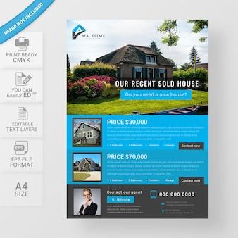 Flyer zum immobiliengeschäft