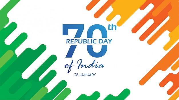 Flyer zum tag der republik indien am 26. januar