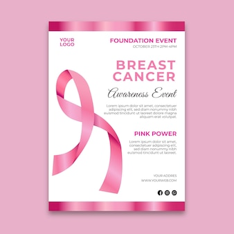 Flyer zur aufklärung über brustkrebs