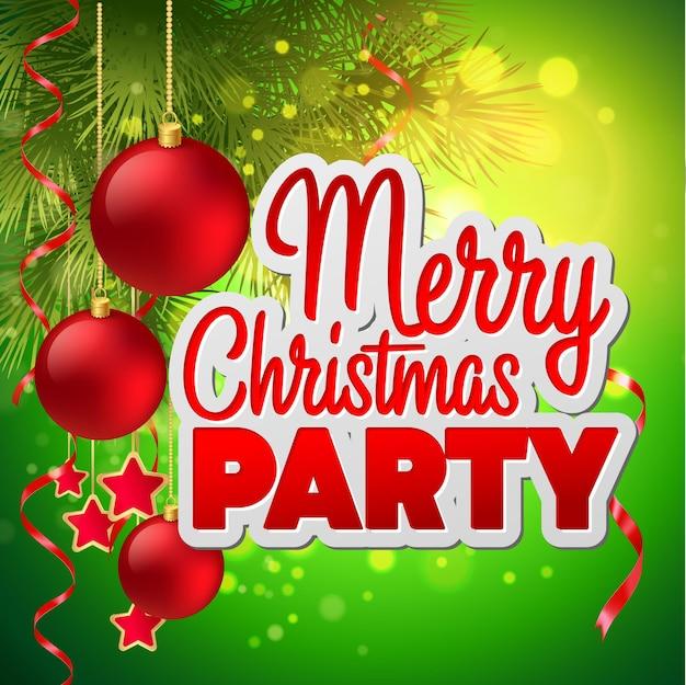 Flyer zur weihnachtsfeier. vektorvorlage eps 10