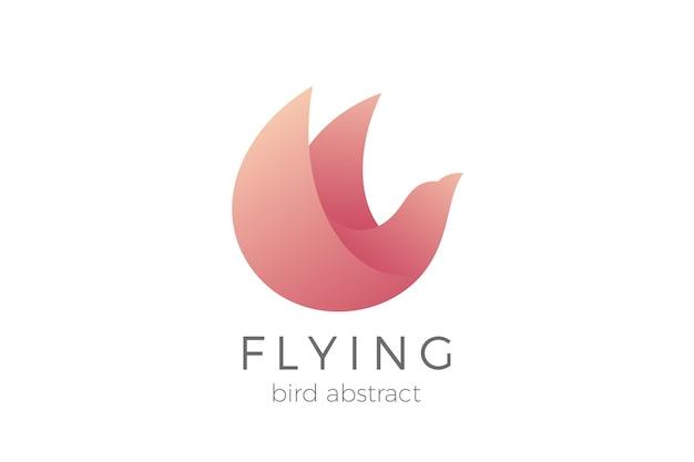 Flying bird logo elegantes design. dove eagle cosmetics fashion luxus-logo.