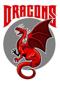 Flying dragon maskottchen