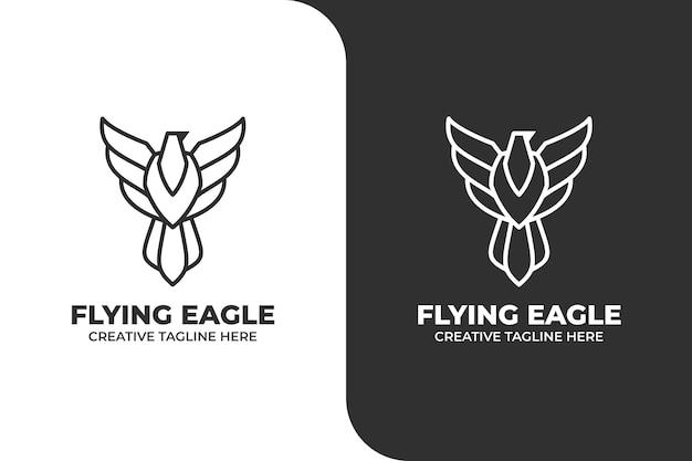 Flying eagle einfaches logo-geschäft