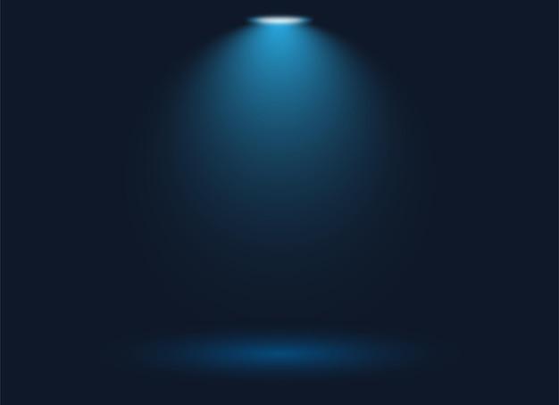 Fokus-spotlight-hintergrund mit blauem hintergrund