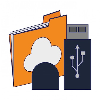 Folder cloud computing und usb