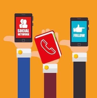 Folge mir dem thema des sozialen netzwerks