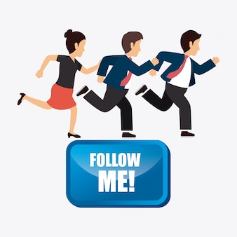 Folgen sie mir sozial und geschäftlich