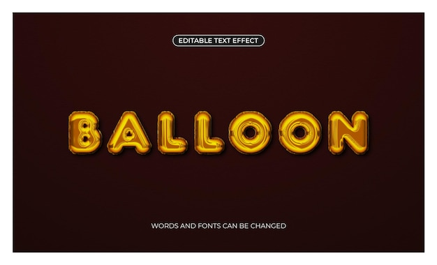 Folienballon-texteffekt in luxuriöser goldfarbe