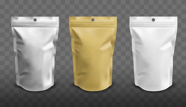 Folienbeutel mit reißverschluss, doypack für lebensmittel