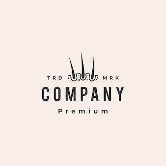 Follikelhaar-dermatologie-hipster-vintage-logo