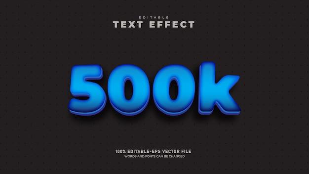 Follower-abonnenten bearbeitbare 3d-texteffektvorlage