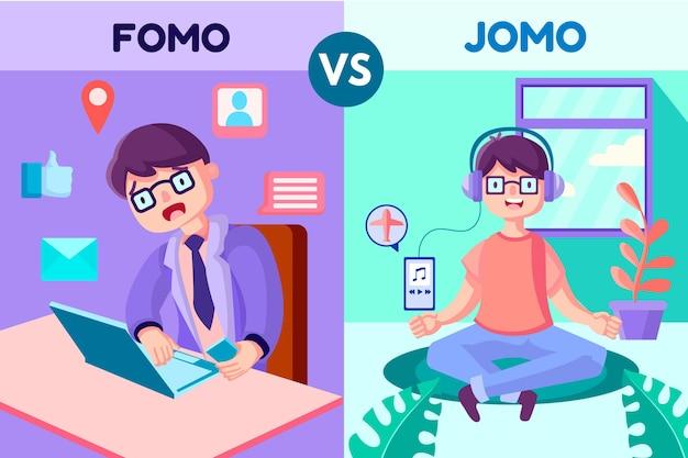 Fomo gegen jomo
