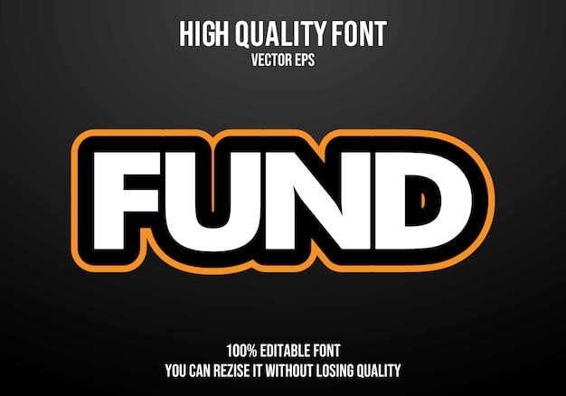Fondsbearbeitbarer text effekt
