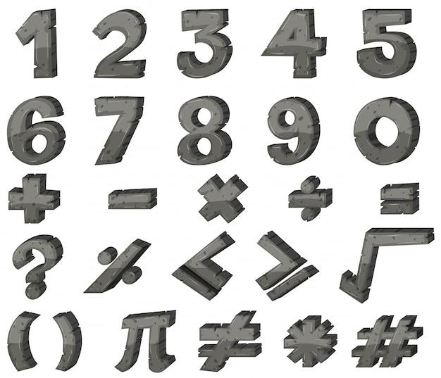 Font-design für zahlen und zeichen