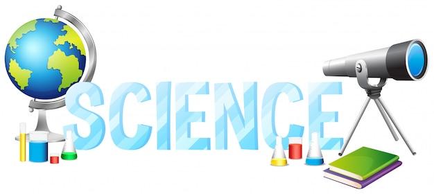 Font-design mit wort wissenschaft