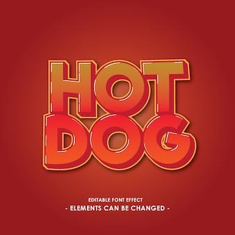 Font-effekt für heißes lebensmittel