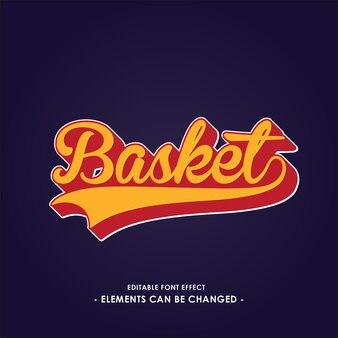 Font-effekt für sport-team-logo