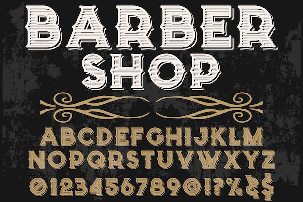 Font handcrafted typography font design friseurladen