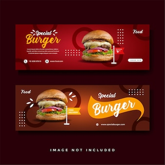 Food and culinary banner promotion-sammlung