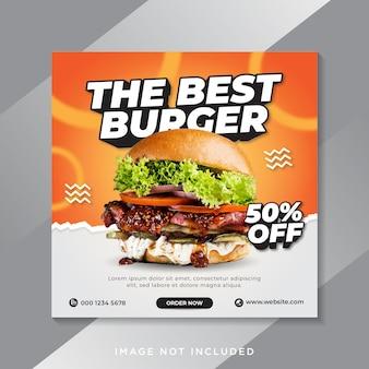 Food burger social media instagram post banner vorlage