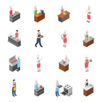 Food court und food corner icons pack