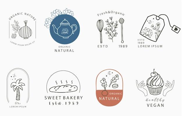 Food design kollektion mit zwiebeln