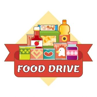 Food drive charity bewegung logo