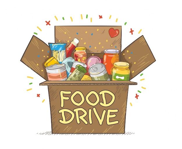 Food drive wohltätigkeitsbewegung